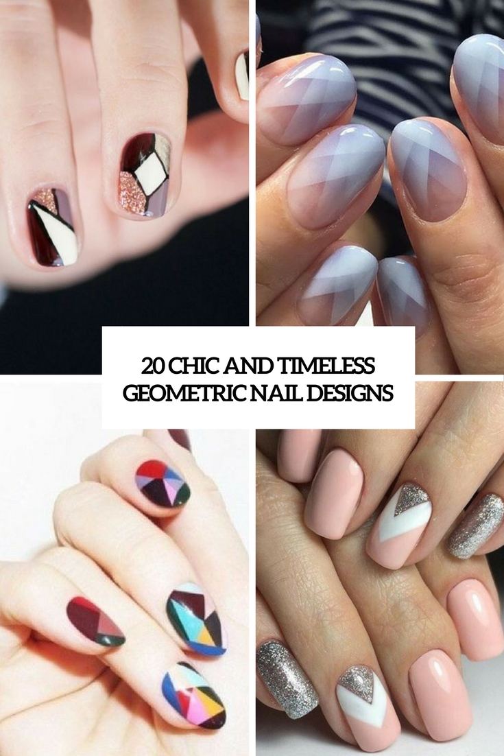 20 Chic And Timeless Geometric Nail Designs - 20 Chic And Timeless Geometric Nail Designs - Styleoholic