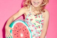 20 spaghetti strap watermelong print swimsuit