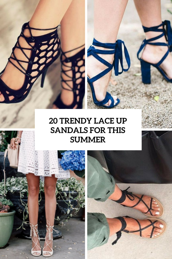 20 Trendy Lace Up Sandals For This Summer