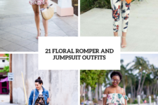 21 Cool Floral Print Romper And Jumpsuit Outfits