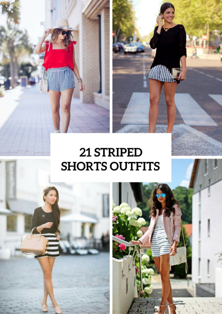 21 Cool Outfits With Striped Shorts