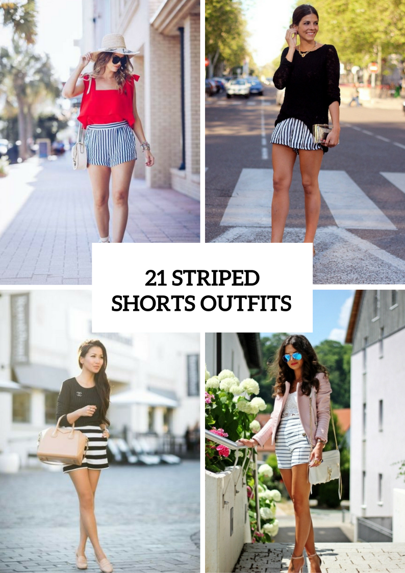 Cool Outfits With Striped Shorts