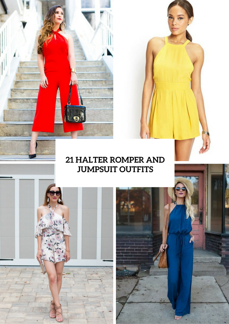 Halter Romper And Jumpsuit Outfits