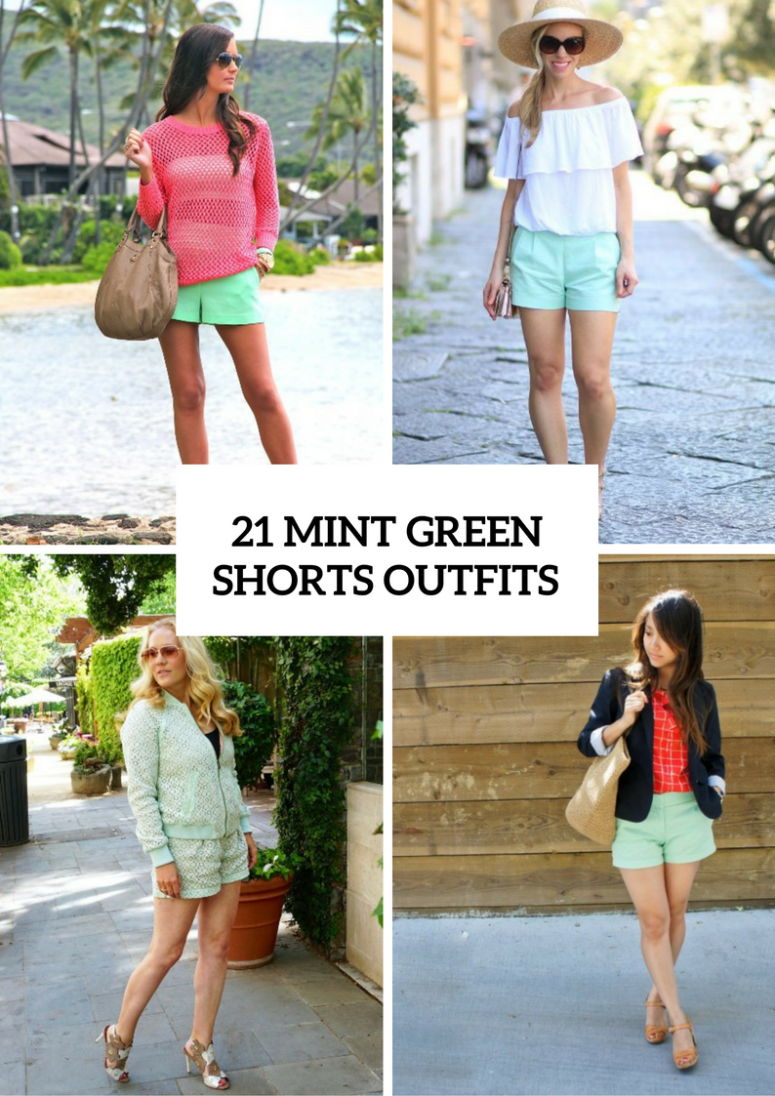 Mint Green Shorts Outfits For Girls