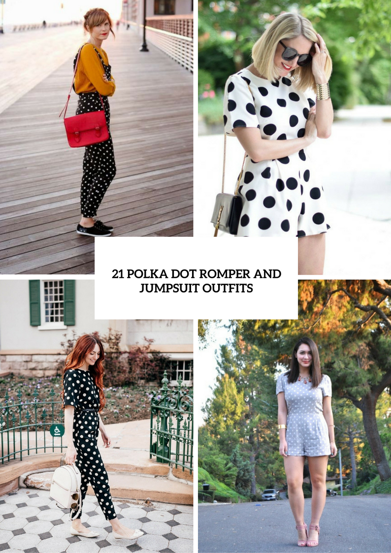 Polka Dot Romper And Jumpsuit Outfits For Fashionistas