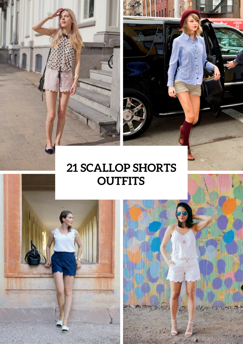 Scallop Shorts Outfits For Stylish Girls