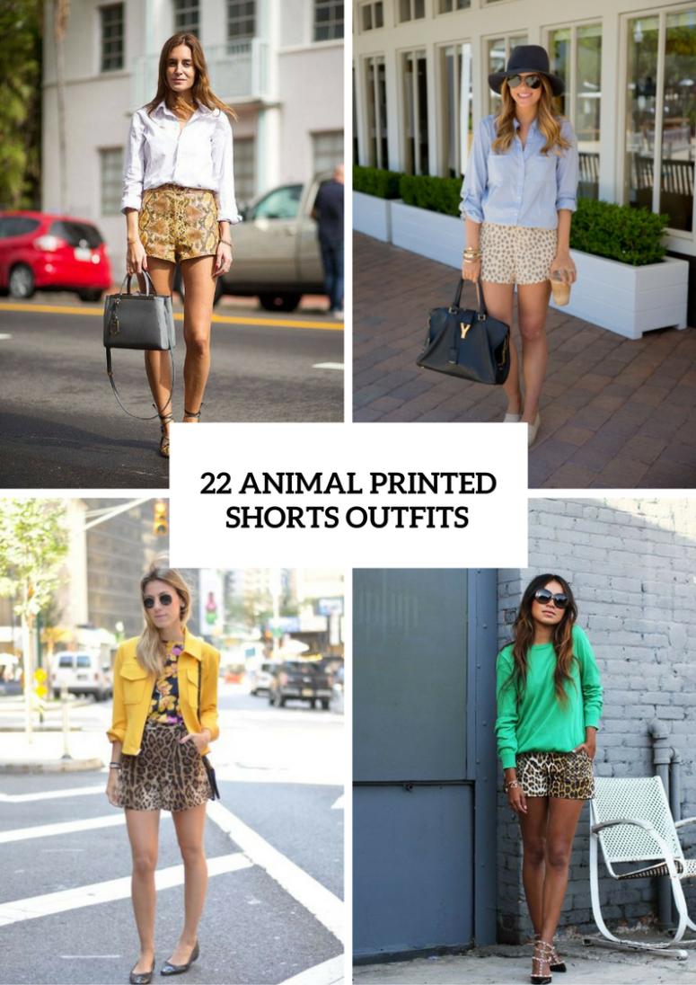 22 Animal Print Shorts Outfits To Repeat