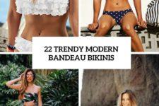 22 trendy modern bandeau bikinis cover