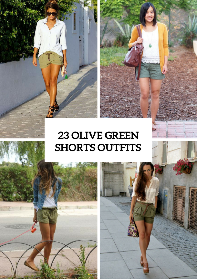 23 Olive Green Shorts Outfits For Ladies