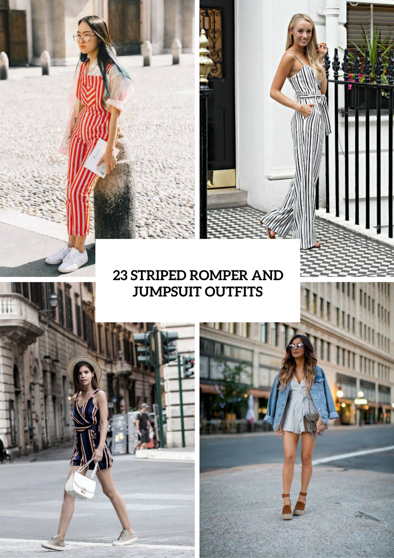 Striped Romper And Jumpsuit Outfits To Repeat