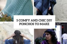 5 comfy and chic diy ponchos to make cover