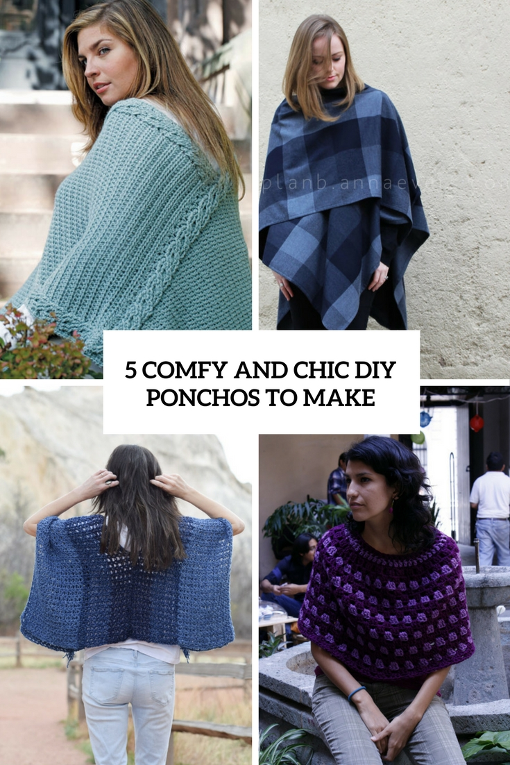 5 Comfy And Chic DIY Ponchos To Make