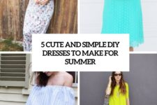 5 cute and simple diy summer dresses to make cover