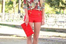 floral shirt look