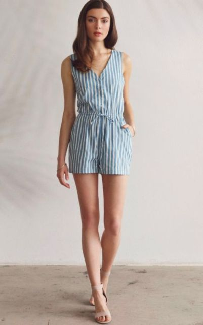 8623660503e 23 Striped Romper And Jumpsuit Outfits To Repeat - Styleoholic