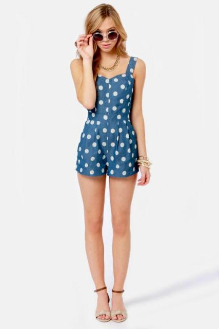 21 Polka Dot Romper And Jumpsuit Outfits For Fashionistas - Styleoholic