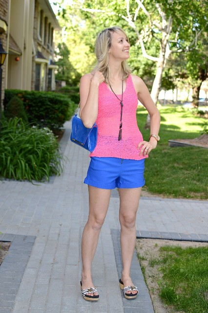 21 Cobalt Blue Shorts Outfits For Women - Styleoholic