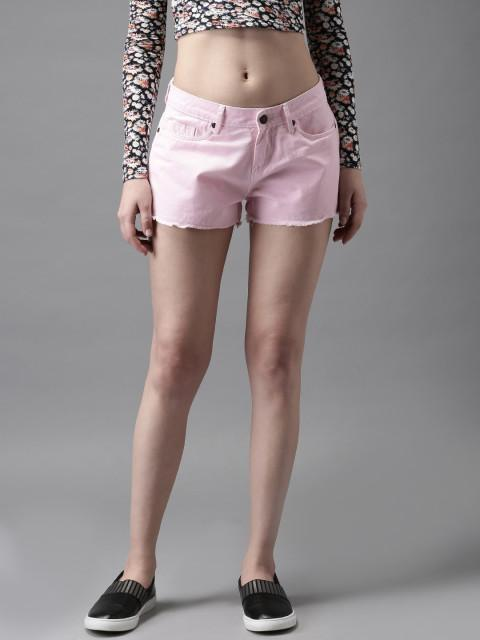 With printed crop shirt and slip on shoes