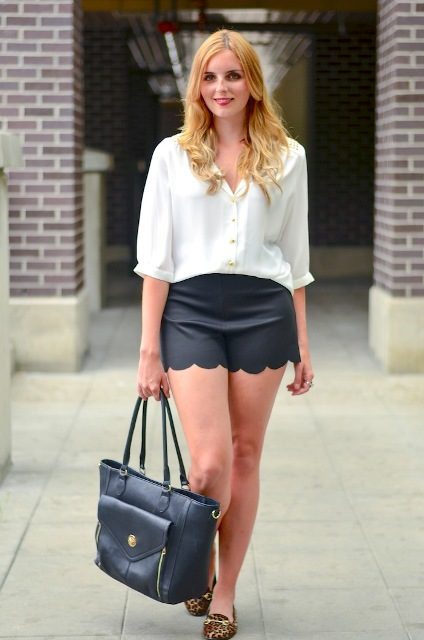 outfit with leopard shoes