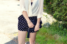 summer look with a clutch