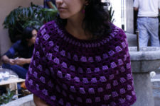 DIY granny poncho with a free pattern