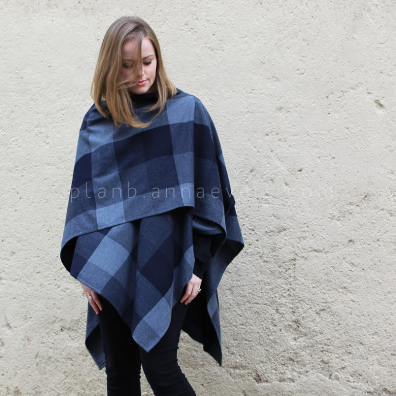 DIY fabric poncho (via planb.annaevers.com)