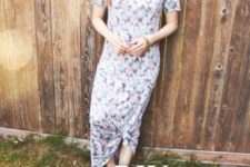 DIY floral summer dress from an old tee