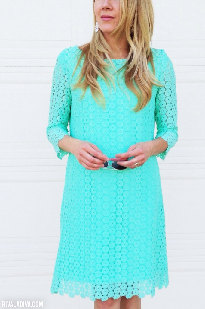 DIY turquoise lace summer dress (via https:)