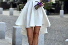 04 sleeveless asymmetric hem high low flare dress in white