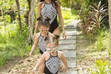 07 black one piece swimsuits with a tribal print for all the girls