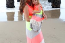11 chevron maxi beach coverups for a mom and a daughter