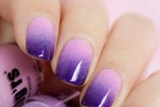 11 ombre pink to purple nails are a trendy idea