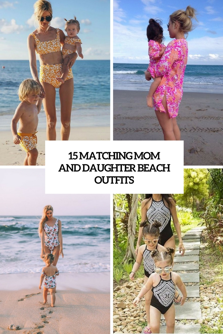 15 Matching Mom And Daughter Beach Outfits