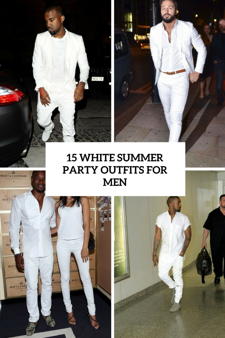 15 White Summer Party Outfits For Men