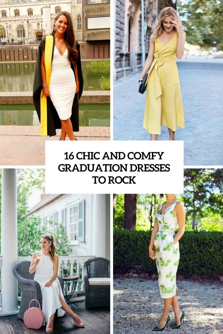 16 Chic And Comfy Graduation Dresses To Rock