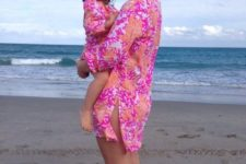 16 pink turtle print beach coverups for the mom and daughter