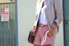 pink shorts for an office