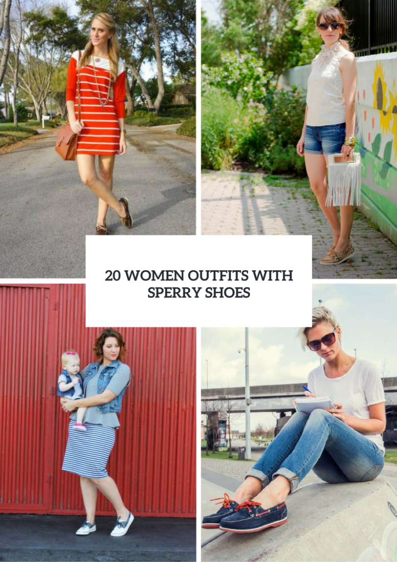 20 Charming Women Outfits With Sperry Shoes