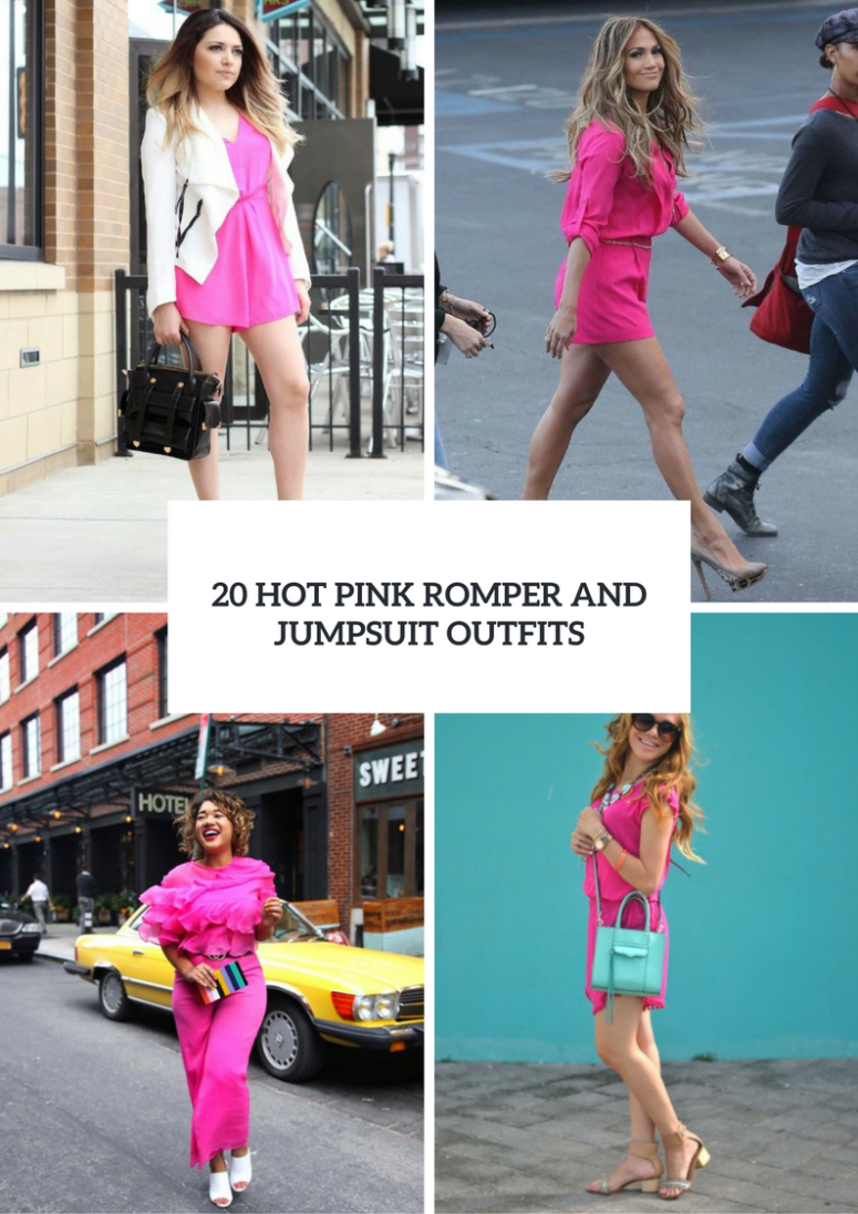 Hot Pink Romper And Jumpsuit Outfits