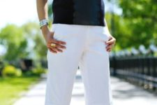 white shorts work look