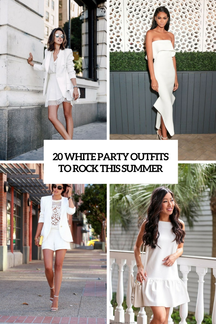 20 White Party Outfits To Rock This Summer