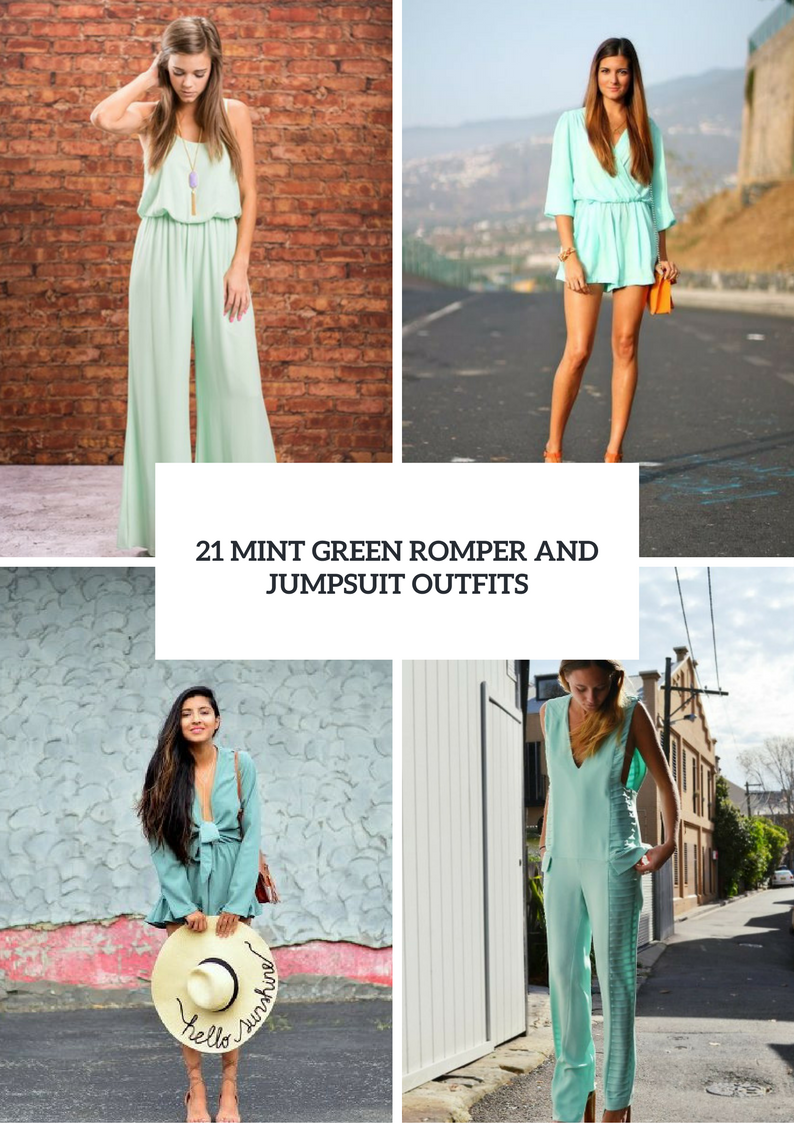 Mint Green Romper And Jumpsuit Outfits