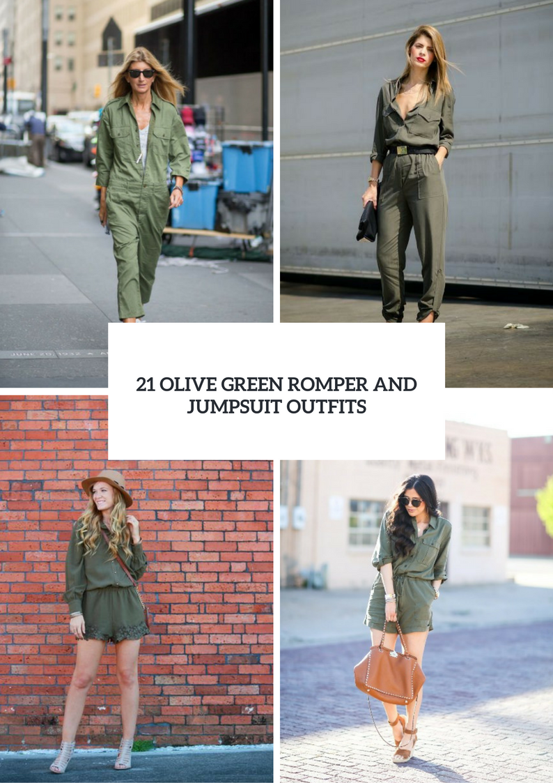 Olive Green Romper And Jumpsuit Outfits For Ladies