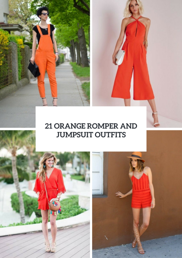 21 Orange Romper And Jumpsuit Outfit Ideas