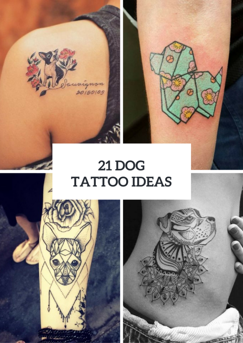 Touching Dog Tattoo Ideas For Women