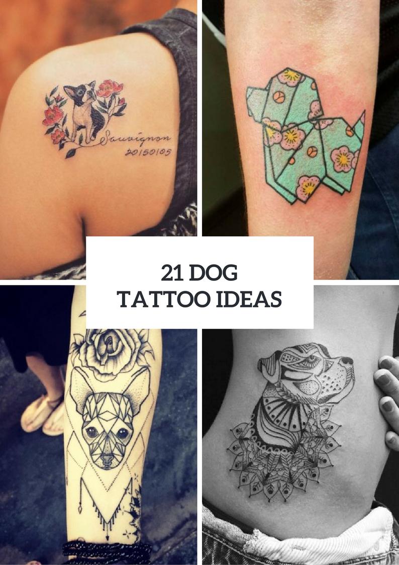 Touching Dog Tattoo Ideas For Women