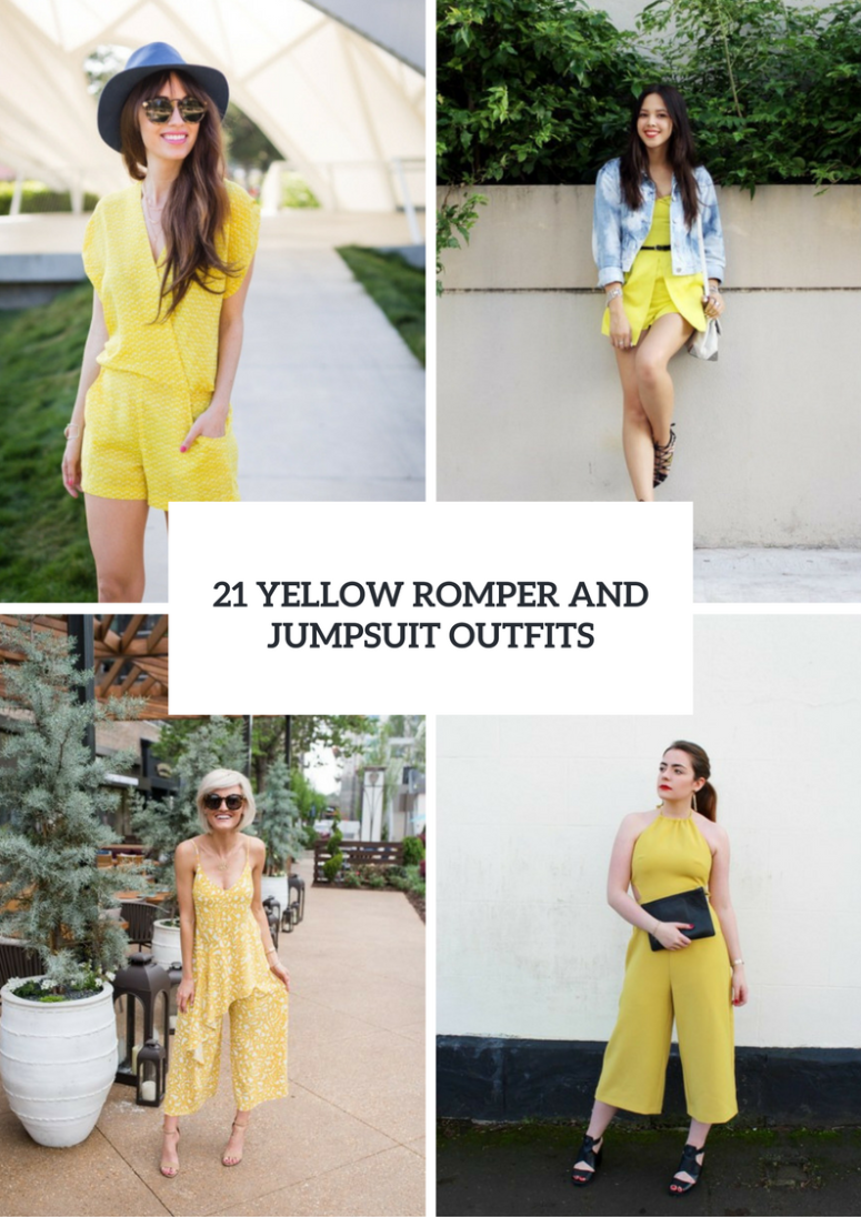 94aa1297ae4 21 Yellow Romper And Jumpsuit Outfits To Try – OBSiGeN