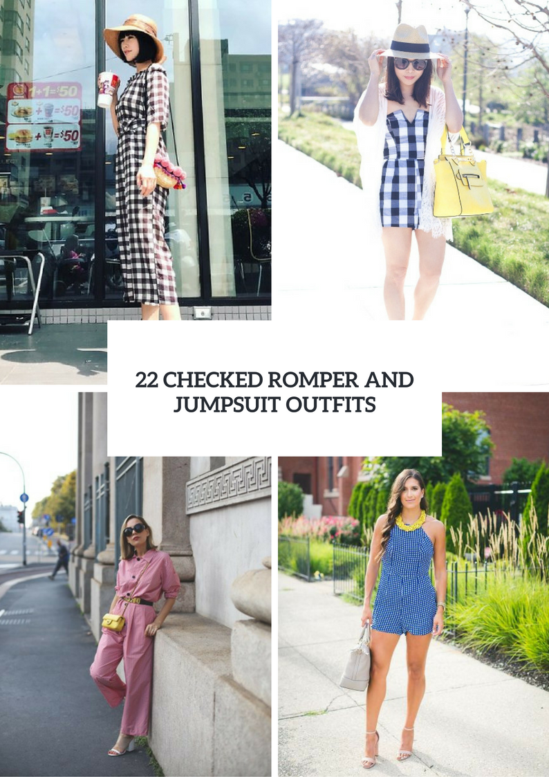 Checked Romper And Jumpsuit Outfits For Ladies