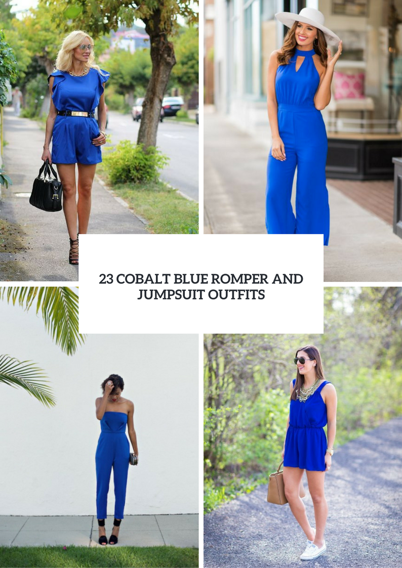Cobalt Blue Romper And Jumpsuit Outfits