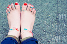 DIY Swarovski crystal toe rings and anklets